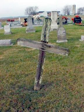 Wooden Cross at St. Felicitas Cemetery
