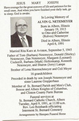 NETEMEYER, Alvin G